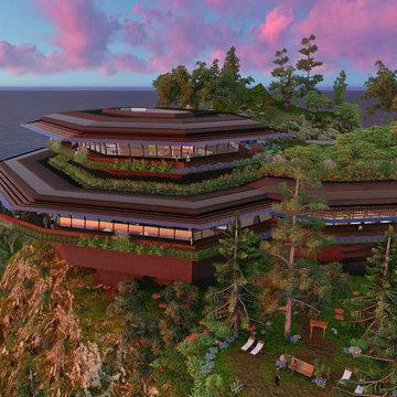California Corporate Mountain side Retreat