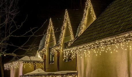 Фотоохота: Новогодняя подсветка загородного дома и сада — 26 идей