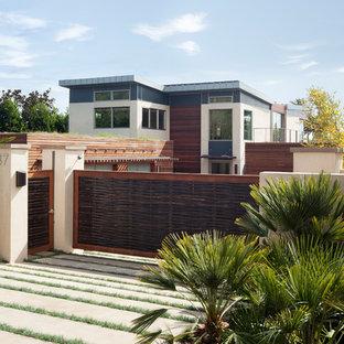 Inspiration for a contemporary house exterior in Santa Barbara.