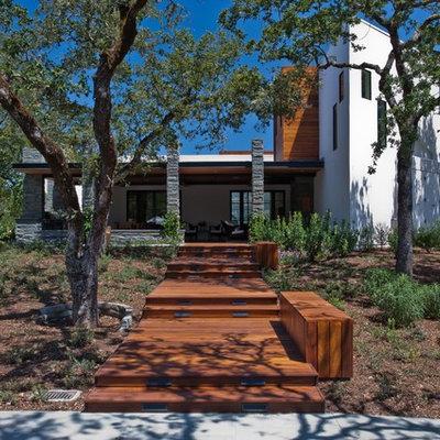Contemporary mixed siding exterior home idea in San Francisco