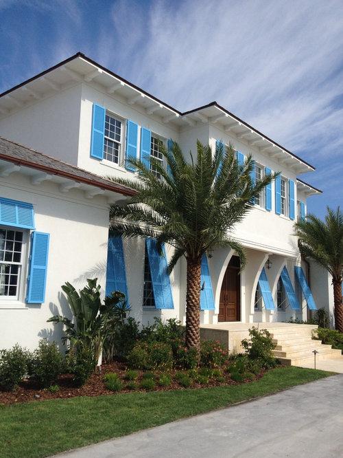 Bermuda shutter houzz for Bermuda style exterior shutters