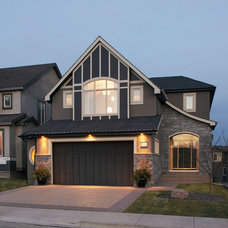 Transitional Exterior by Crystal Creek Homes