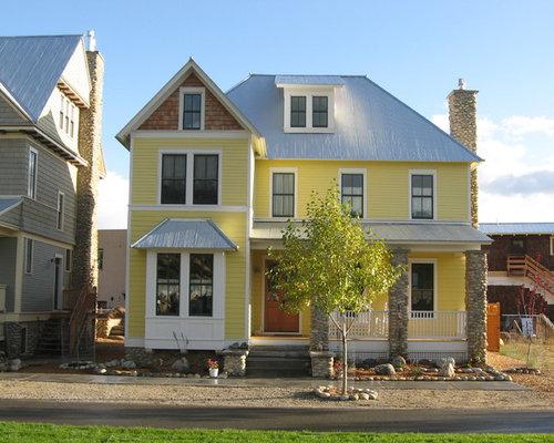 Silver metal roof houzz - Metal paints exterior plan ...