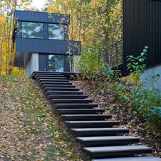 Contemporary Exterior by Birdseye Design