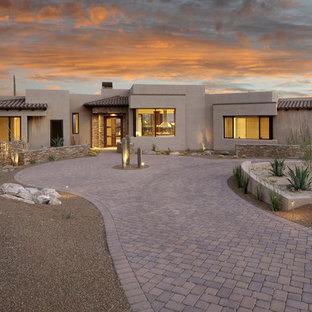 Southwest one-story flat roof photo in Phoenix