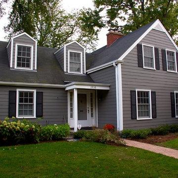 Cape Cod Style Home - Evanston, IL in James Hardie Siding & Trim