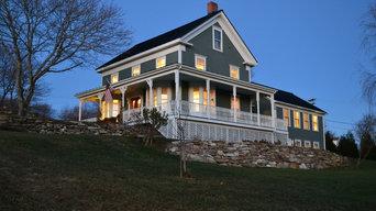 Captains' house on the coast of Maine