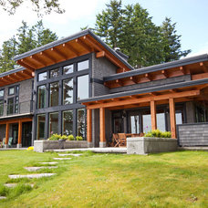 Contemporary Exterior by Island Timber Frame