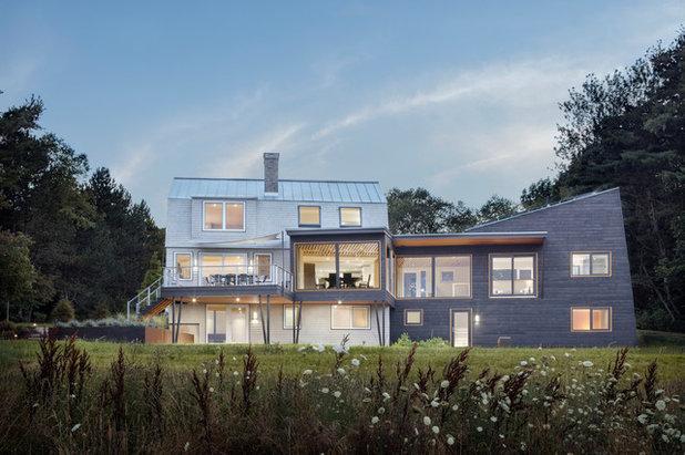 Trendy Hus & facade by Kaplan Thompson Architects
