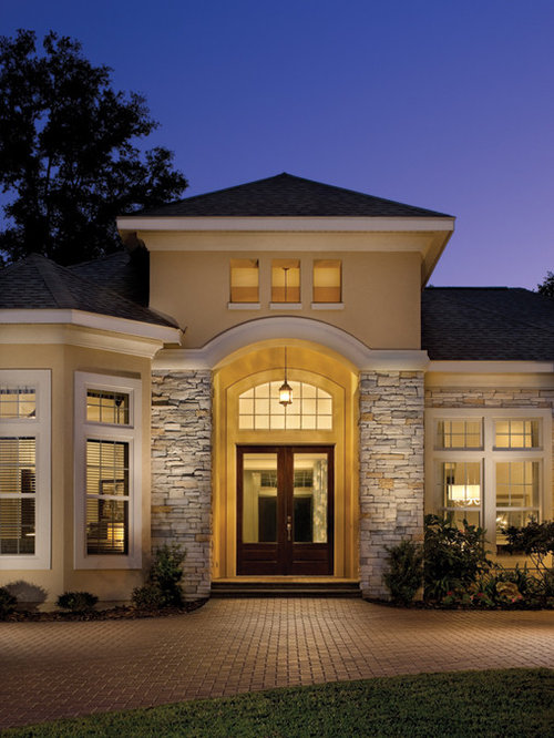 Rutenberg Gainesville Luxury Designer Home Stone Work: Traditional Tampa Exterior Design Ideas, Remodels & Photos