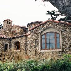 Rustic Exterior by Robert Shuler Design