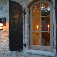 Traditional Exterior by Melanie Giolitti Interior Design