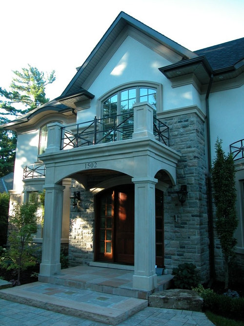 Flat roof portico home design ideas pictures remodel and for Flat exterior design