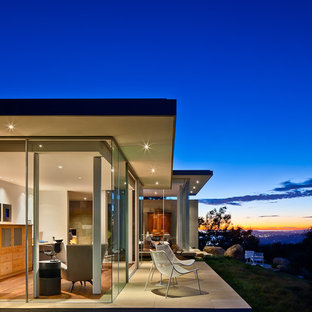 Inspiration for a modern stone exterior home remodel in Santa Barbara
