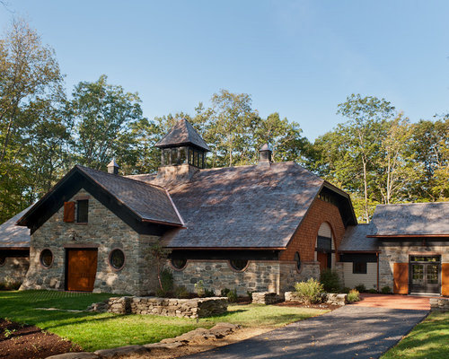 Wood And Stone House Houzz