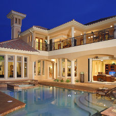 Mediterranean Exterior by The Evans Group