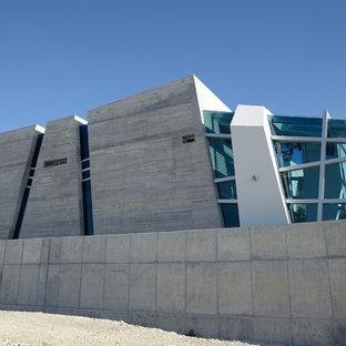 Example of a trendy concrete exterior home design in Mexico City