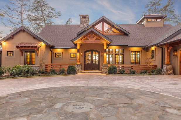 Rustic Exterior by Alair Homes Clemson