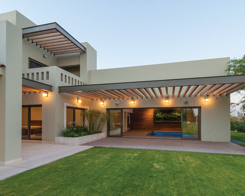 Modern two story exterior design ideas remodels photos for 2 story exterior design