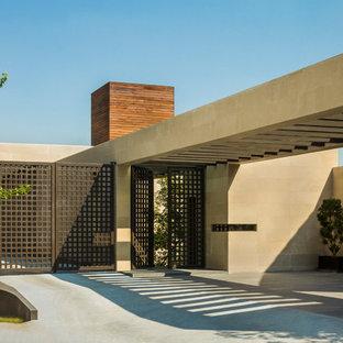 Idee per la facciata di una casa moderna a un piano