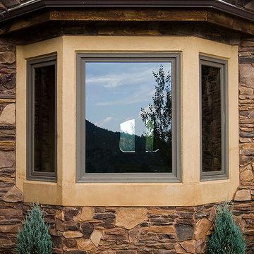 Cascade Exterior & Interior Double French-wood Gliding Paito Doors, Bay Windows