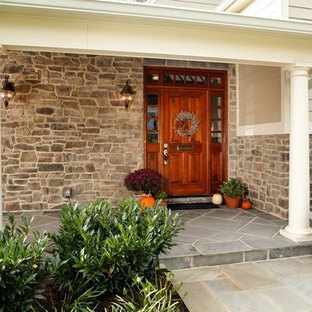 Traditional wood exterior home idea in DC Metro