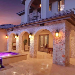 mediterranean exterior by Vanguard Studio Inc.