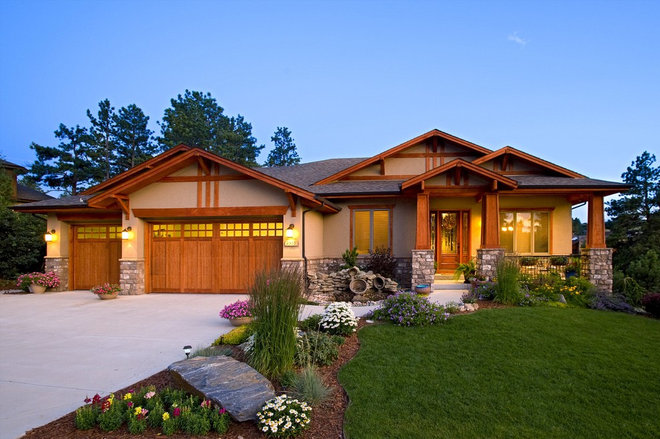 Craftsman Exterior by Erin Johnson Interiors, LLC