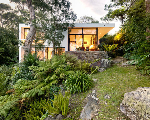 Residential steep slope landscaping home design ideas for Home garden design houzz