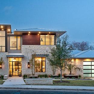 Idee per la facciata di una casa contemporanea
