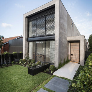 Design ideas for a large contemporary exterior in Melbourne.