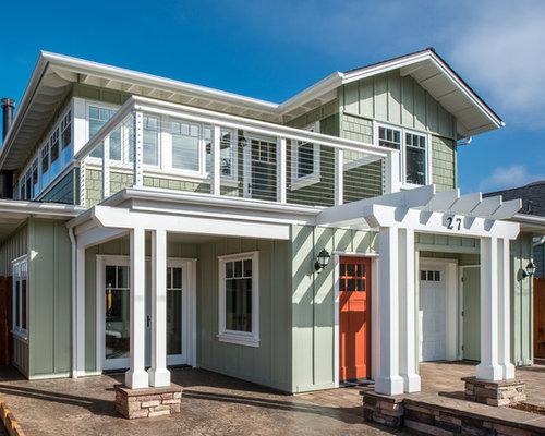 Beach style green exterior design ideas renovations photos for Architectural exterior design virginia beach