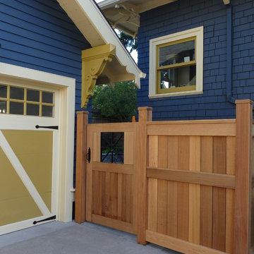 Cedar & Metal Gate  & Fence