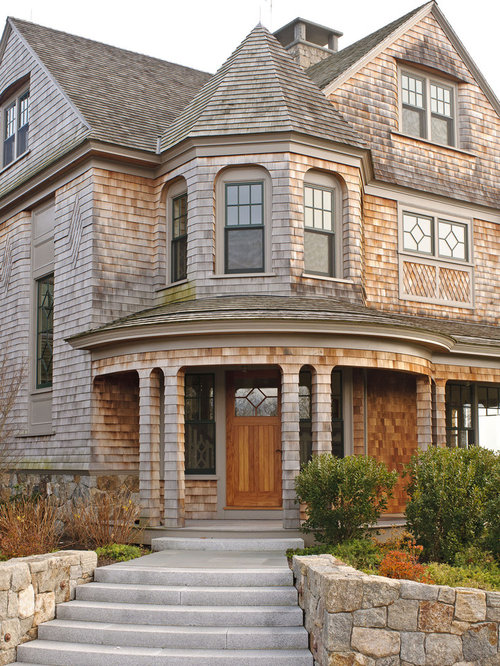 Shingle style exterior home design ideas pictures for Victorian shingles