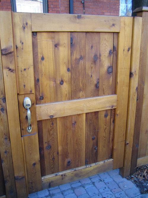 Cedar fence with custom gates