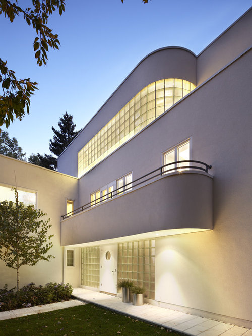 Modern art deco interior houzz for Deco moderne