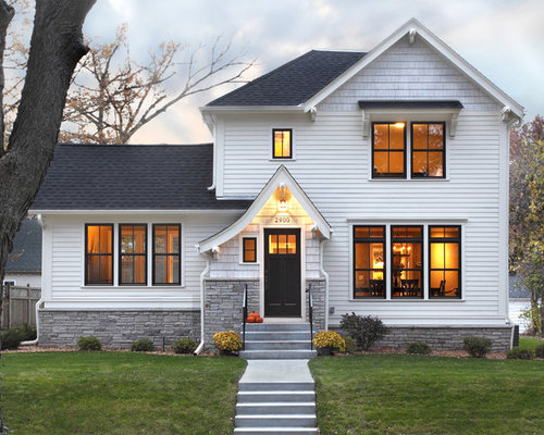 Awesome Best White And Black Exterior Design Ideas Remodel Pictures Houzz Largest Home Design Picture Inspirations Pitcheantrous