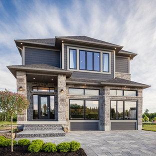 Idée de décoration pour une façade de maison design.