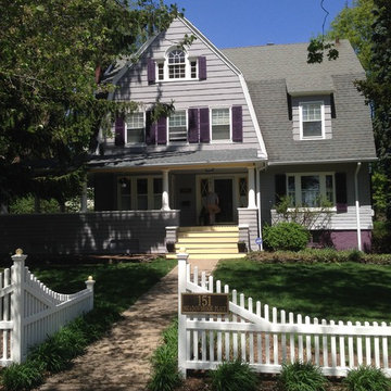 Center Hall Colonial - Colorful Exterior Painting, South Orange, NJ