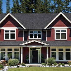 Transitional Exterior by Centra Windows