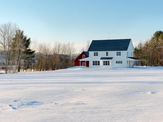 Farmhouse Exterior by Classic Home Design + Construction
