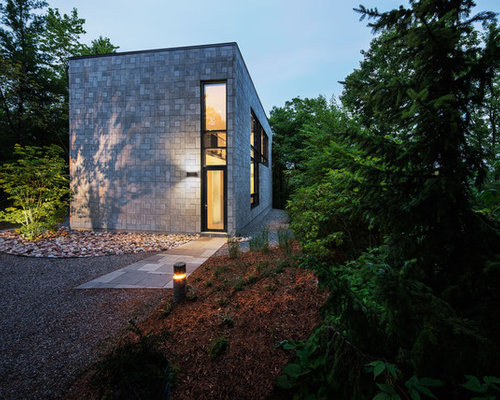 Concrete block house houzz for Cement block homes