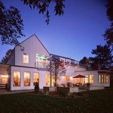 Farmhouse Exterior by Blueline Architects p.c.
