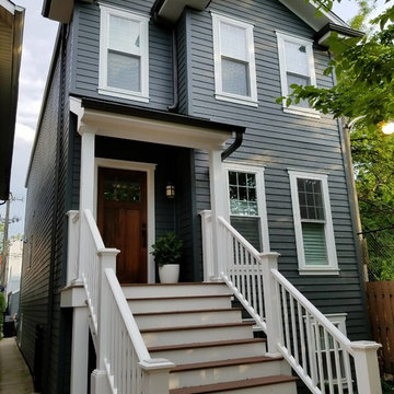 Chicago, IL Victorian Hardie Board Remodeled Home