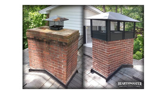 Chimney Cap Upgrade, Before and After