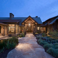 Rustic Exterior by Locati Architects