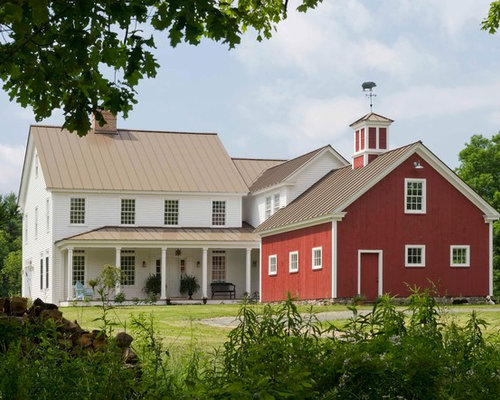Farmhouse with attached barn images for Vermont farmhouse plans