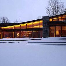 Contemporary Exterior by Altius Architecture, Inc.
