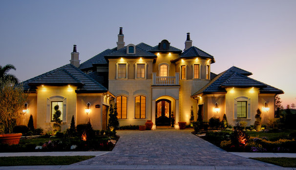 Mediterranean Exterior by Christopher Burton Homes, Inc.