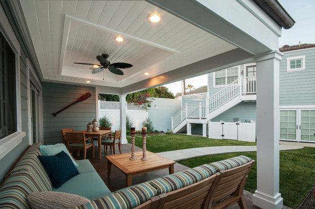 Beach Style Exterior by QualCraft Construction Inc